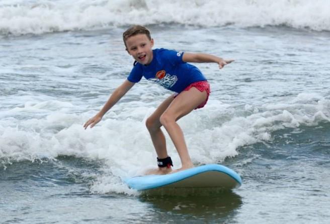 Skyla Surfing